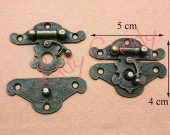 5 lobster clasps closure chest incense display box jewelry box glass box #120092