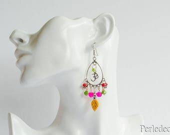 """Soraya"" Oval earrings colorful glass beads"