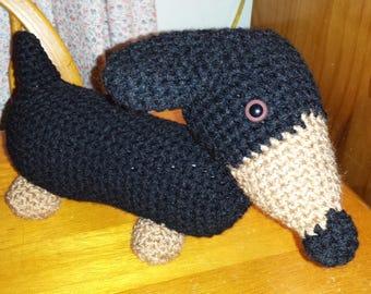 Crochet Dachshund doxie dog