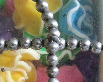 20 4mm natural pyrite stone beads, hole 1 mm