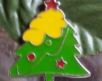 1 pendant in enamel Christmas tree for Christmas of 37 mm