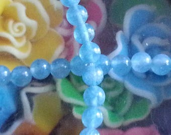 10 Aqua blue sponge quartz with 4mm hole 1 mm