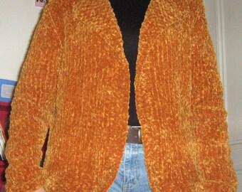 Short jacket knitted velvet hand 42/44.