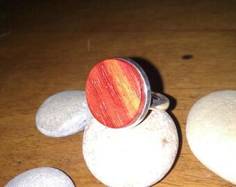 Padouk wood Adjustable ring