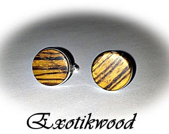 Cufflinks in Zebrawood