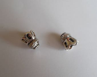 1 lot of 2 antique silver caps