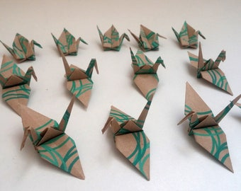 Set of origami cranes: swirl Collection