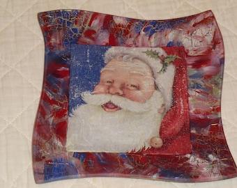 """Santa"" glass plate xxxx"