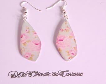 Floral earrings romantic shabby