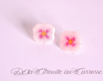 Rose flower ear studs