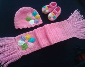 Cute baby crochet winter