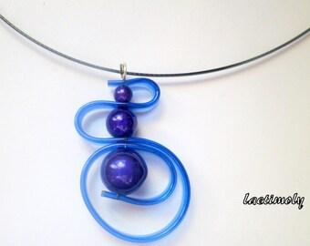fantasy Choker necklace Royal Blue