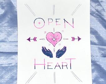 Open Heart Riso Print