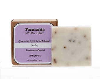 Tannania Handmade Gromwell Root Basil Seeds Natural Soap