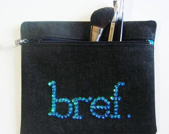 "Turquoise ""Noreen"" brief case - makeup case"
