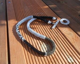 """Silver"" crochet Choker necklace"