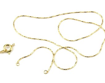 ES-1419 18KGP Gold Plated 750 ‰ - Kit Snake Chain with Spring clasp and blade
