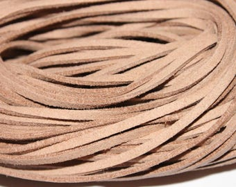 Light beige suede cord, 1 m