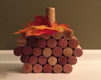 Rustic Wine Cork Pumpkin