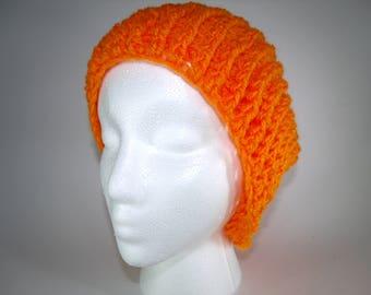 Anime Orange Handmade Slouch Type Crochet Beanie Custom