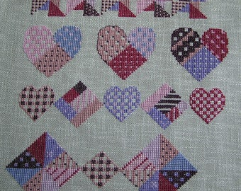 Embroidery folk cross stitch pattern