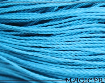 Set of 10 meters Polyester Turquoise wax cord 1 mm 969 O