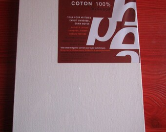 100% cotton canvas for paint pebeo 18 x 24cm