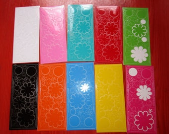 Pack of 10 sheets of stickers started flowers