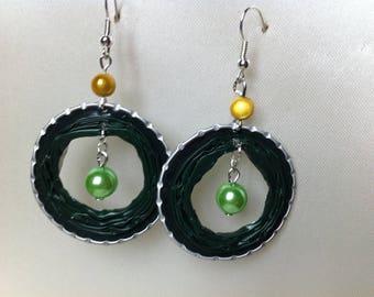 Shades of Green Aluminum earrings