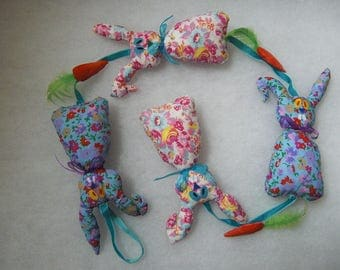 Pink and blue Garland Marius rabbit