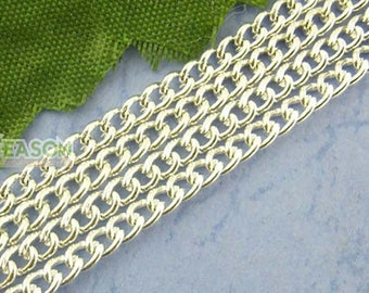 Silver 100 m curb chain for creating jewelry 2x3mm within 15 days