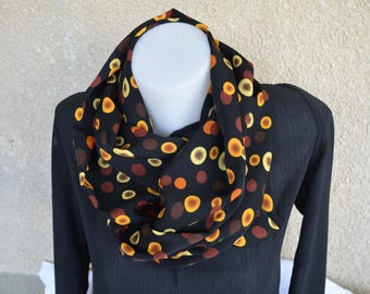 round printed polyester and cotton snood