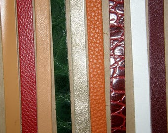 Set of 10 5mm wide leather straps