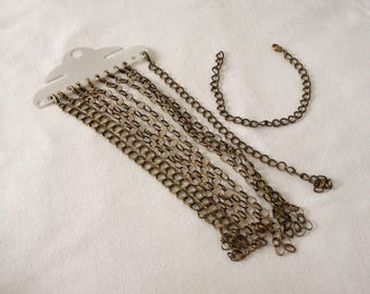 Bronze chain with lobster clasp for jewelry creations bracelet haberdashery