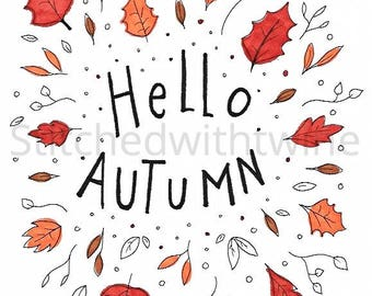 Hello Autumn print
