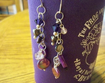 Pretty Purple Swarovski Crystal Earrings SB8