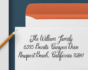 Return Address Stamp 347 - Self Inking Stamp, Custom Address Stamp, Custom Stamp, Personalized Address Stamp, Wedding and Housewarming Gift