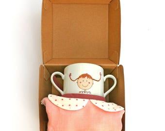 Baby bib - Mademoiselle Fifi & Mug box