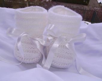 Baby / reborn wool 0/3 months white wool