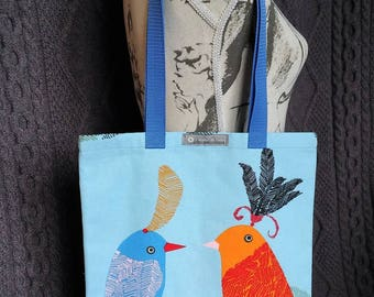 "Tote bag or Tote pattern ""birds"""