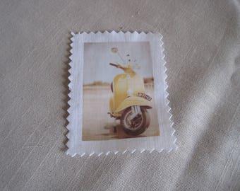 Transfer image to sew, vespa, vintage, 1960's