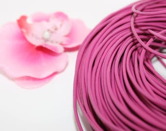 Purple 2mm - creating jewelry leather cord 1 m