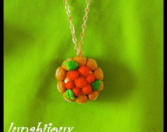 Fimo necklace charlotte Strawberry Christmas jewelry gift