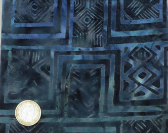Great cotton fabric coupon patchwork hieroglyph 45 x 55 cm Blue fat quarter