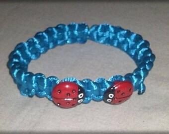 Turquoise kids shamballa bracelet