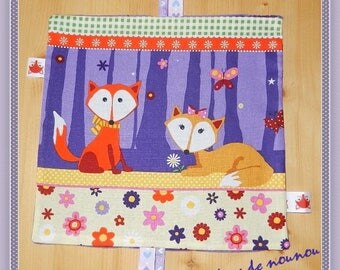 taggy / ribbons baby Fox vixen flowers