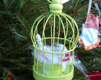 metal fabric bird cage
