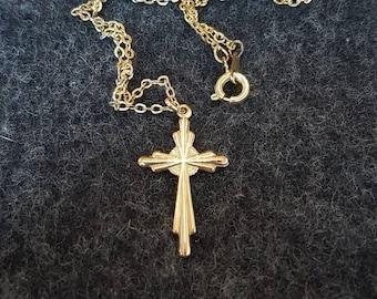 Vintage 1950's 9ct Gold Cross