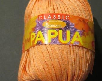 Flat cotton, Adriafil Papua, plain orange