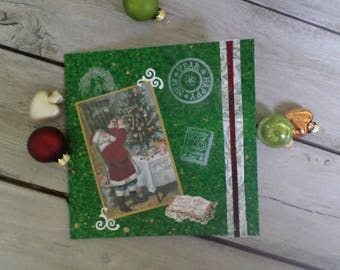 "Square greeting card ""Santa"""